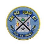 "USS CORRY 3.5"" Button"