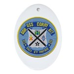USS CORRY Ornament (Oval)