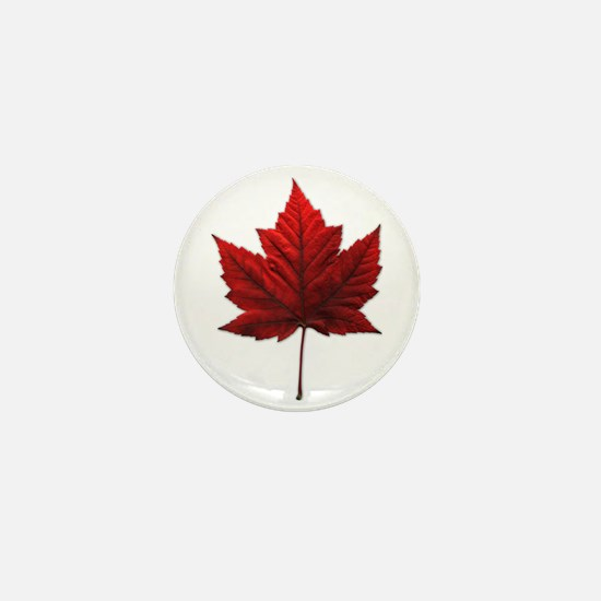 Canada Maple Leaf Mini Button