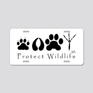 Protect Wildlife Aluminum License Plate