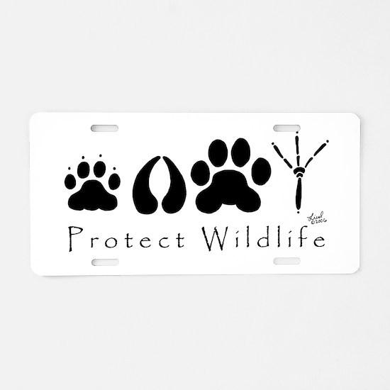 Protect Wildlife Aluminum License Plate