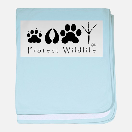 Protect Wildlife baby blanket