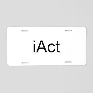 iAct Aluminum License Plate