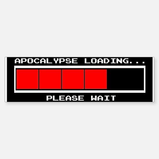 Apocalypse Loading... Sticker (Bumper)
