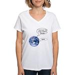 I survived the LHC again Women's V-Neck T-Shirt