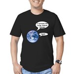 I survived the LHC again Men's Fitted T-Shirt (dar