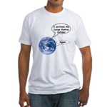 I survived the LHC again Fitted T-Shirt