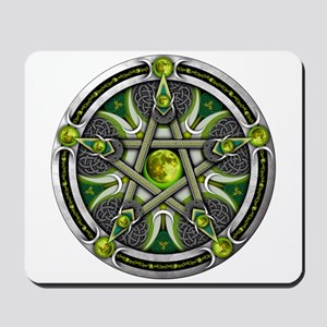 Pentacle of the Green Moon Mousepad