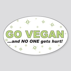 Go Vegan Oval Sticker