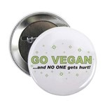 "Go Vegan 2.25"" Button (10 pack)"
