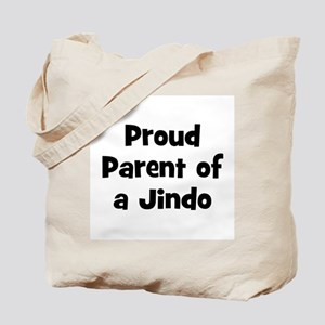 Proud Parent of a Jindo Tote Bag