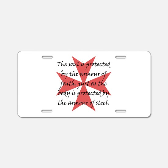 Templar Cross Aluminum License Plate