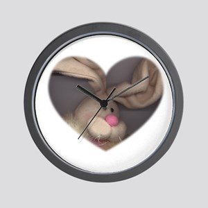 BUNNY FACE HEART Wall Clock