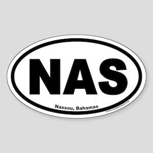 Nassau Bahamas NAS Euro Oval Sticker