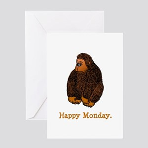 Happy mondays greeting cards cafepress happy monday greeting card m4hsunfo Image collections