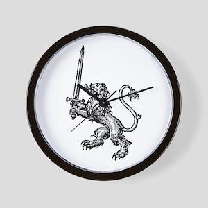 Lion Sword Wall Clock