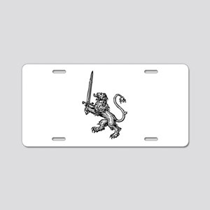 Lion Sword Aluminum License Plate