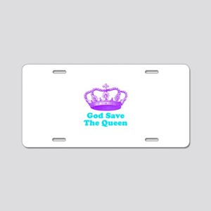 God Save The Queen Aluminum License Plate