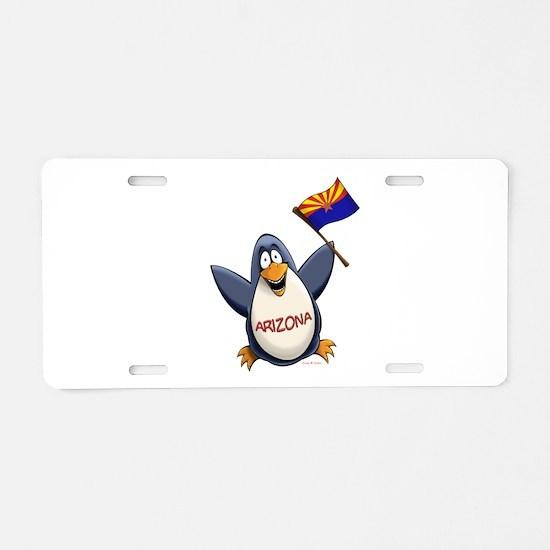 Arizona Penguin Aluminum License Plate
