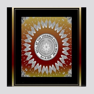 Cherokee Nations Tile Coaster