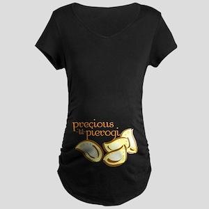 Precious Lil Pierogi Maternity Dark T-Shirt