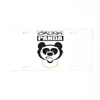 Crunk Panda™ Aluminum License Plate
