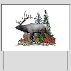 Bull Elk Yard Sign