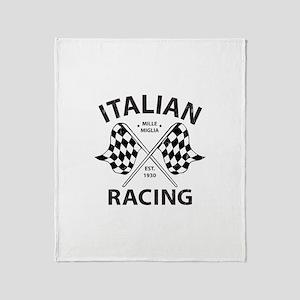 Italian Racing Throw Blanket