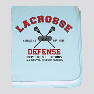 Lacrosse Defense baby blanket