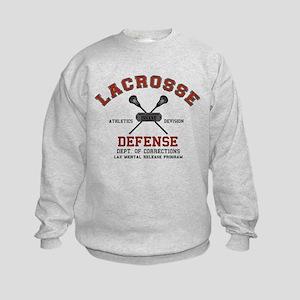 Lacrosse Defense Kids Sweatshirt