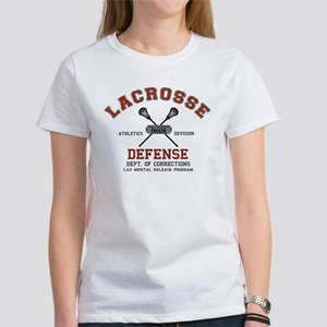 Lacrosse Defense Women's T-Shirt