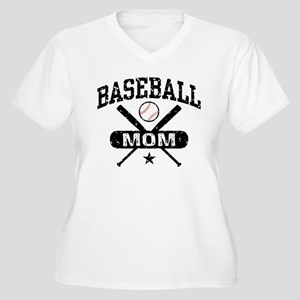 Baseball Mom Women's Plus Size V-Neck T-Shirt
