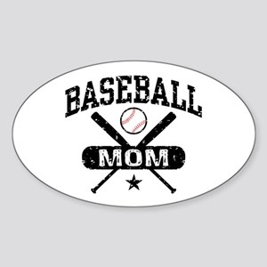 Baseball Mom Sticker (Oval)