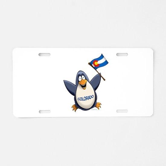 Colorado Penguin Aluminum License Plate