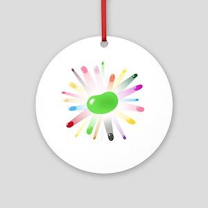 green jellybean blowout Ornament (Round)