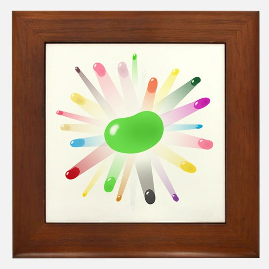 green jellybean blowout Framed Tile