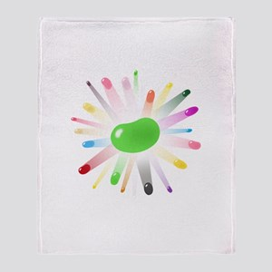 green jellybean blowout Throw Blanket