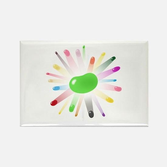 green jellybean blowout Rectangle Magnet