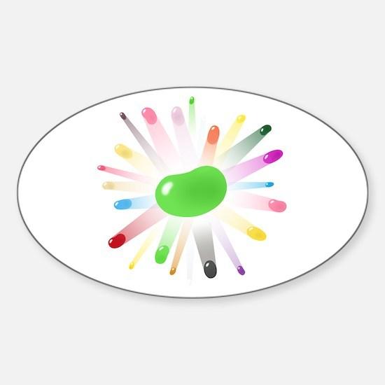 green jellybean blowout Sticker (Oval)