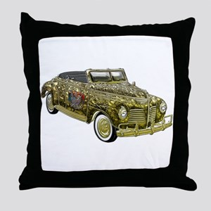 Classic Plymouth Custom Gold Throw Pillow