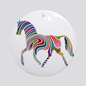 Horse Of Many Colors Ornament (Round)