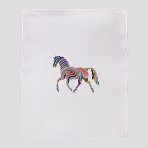 Horse Of Many Colors Throw Blanket