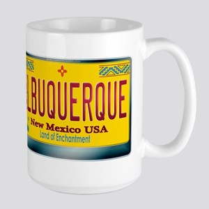 """ALBUQUERQUE"" New Mexico License Plate Large Mug"