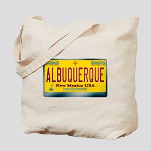 """ALBUQUERQUE"" New Mexico License Plate Tote Bag"