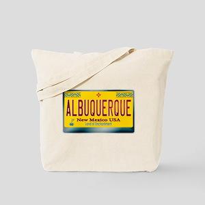 """ALBUQUERQUE"" New Mexico License Plate Tote Bag"