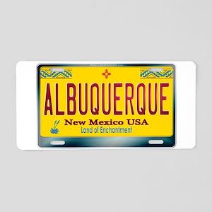 """ALBUQUERQUE"" New Mexico License Plate Aluminum Li"