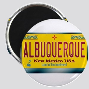 """ALBUQUERQUE"" New Mexico License Plate Magnet"