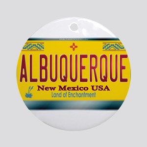 """ALBUQUERQUE"" New Mexico License Plate Ornament (R"