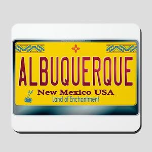 """""""ALBUQUERQUE"""" New Mexico License Plate Mousepad"""