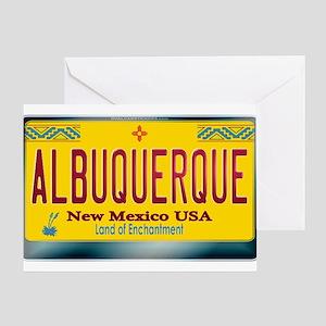 """ALBUQUERQUE"" New Mexico License Plate Greeting Ca"
